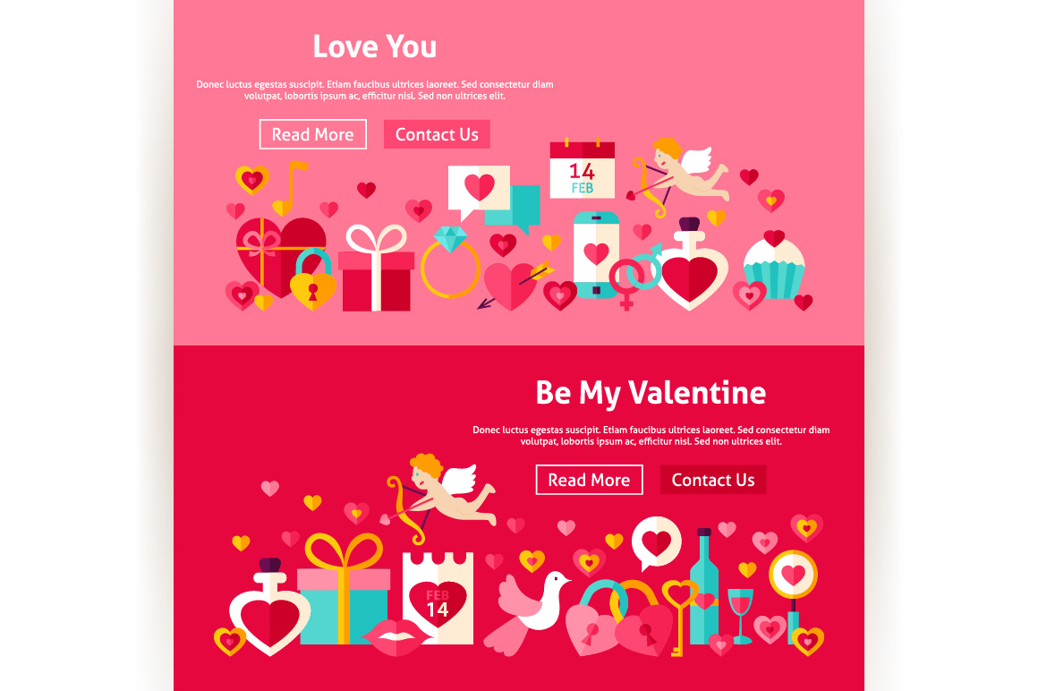 Valentine's Day Website Banners example image 4
