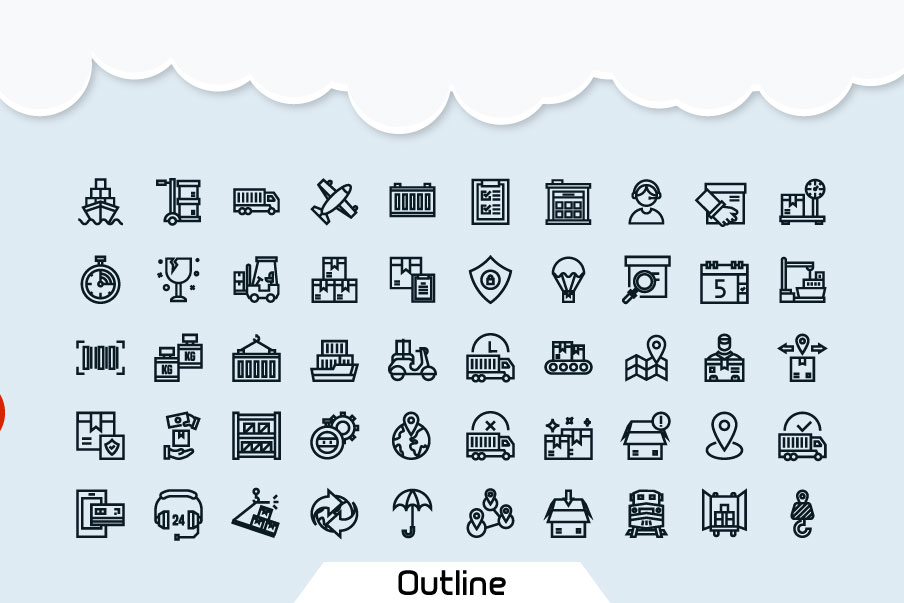 200 Logistic Icon Pack example image 2