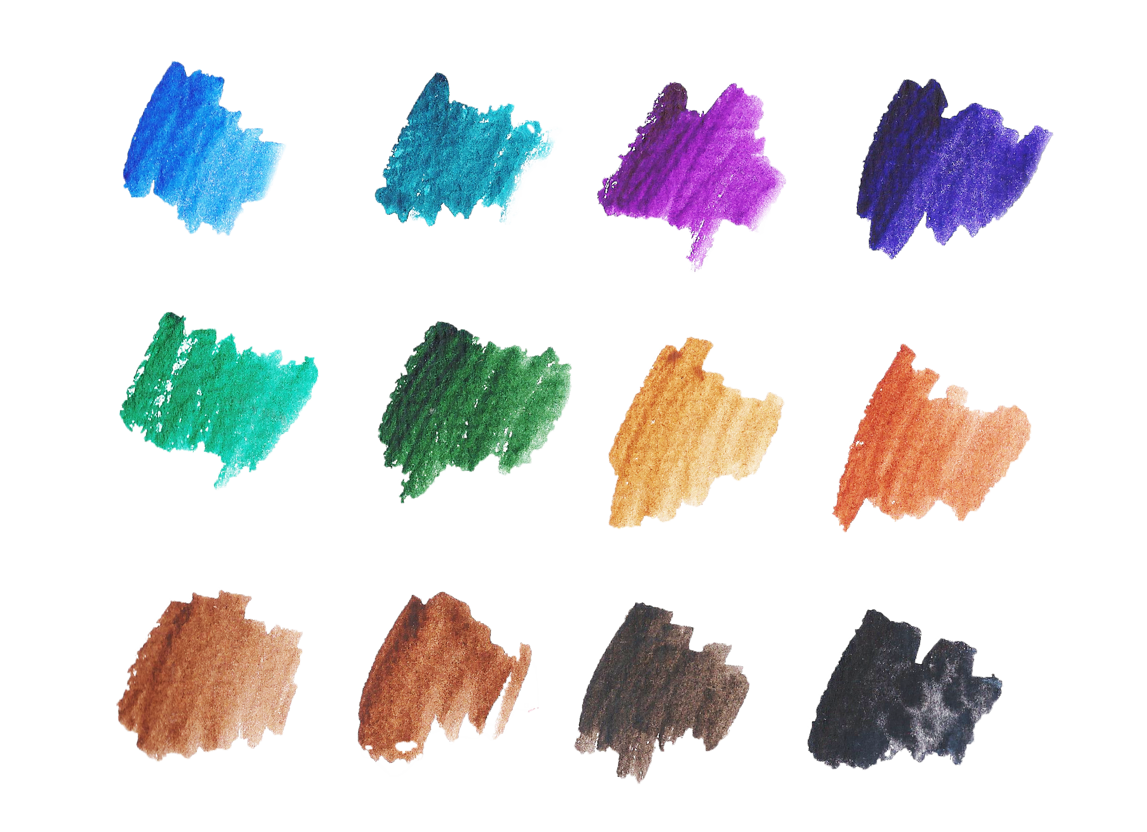 Basic Watercolor Shapes example image 3