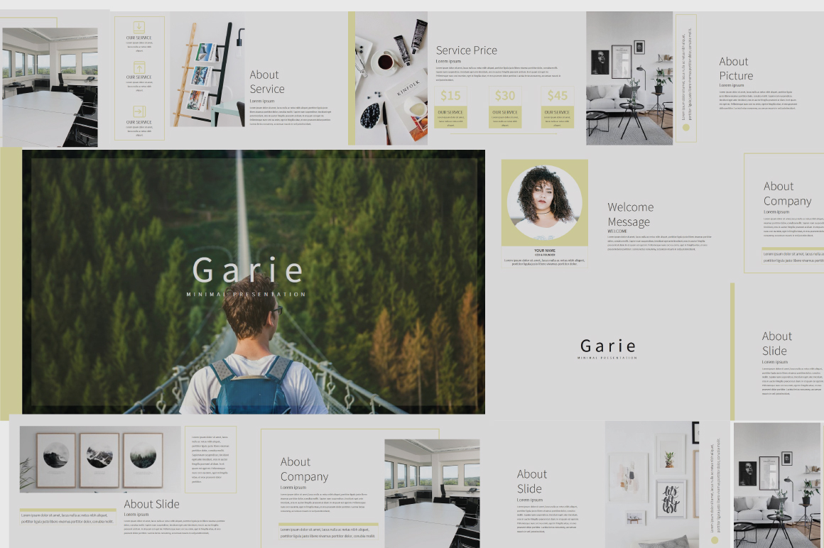 Garie Powerpoint Template example image 1