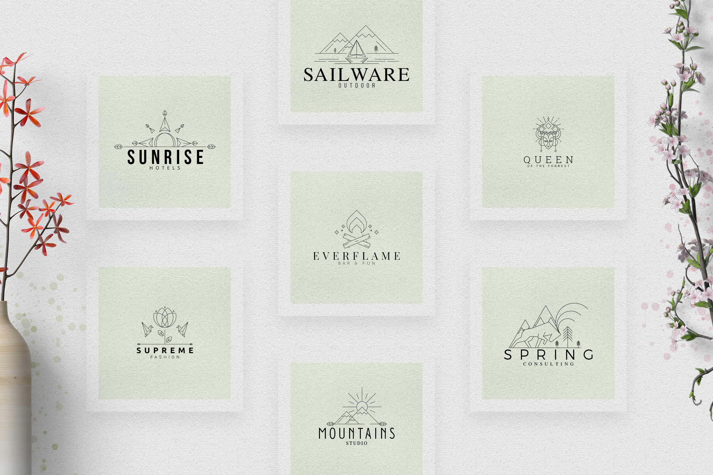 [Spring Vibes] 40 Boutique Logos example image 3