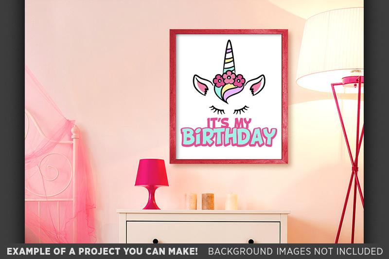 Birthday UNICORN SVG - Its My Birthday Unicorn Shirt - 1056 example image 2