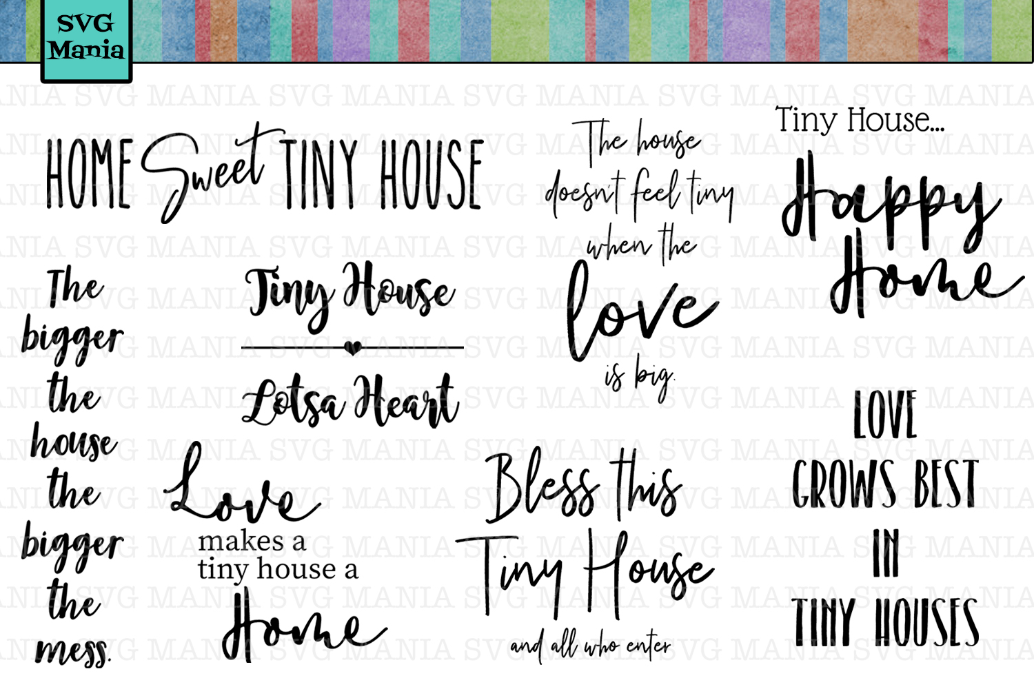 Tiny House SVG File Bundle, SVG Sayings for Tiny Houses, SVG example image 2