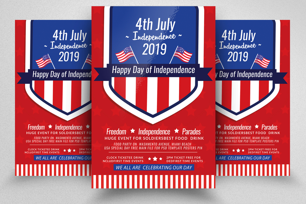 Independence Day Celebration Flyer example image 1