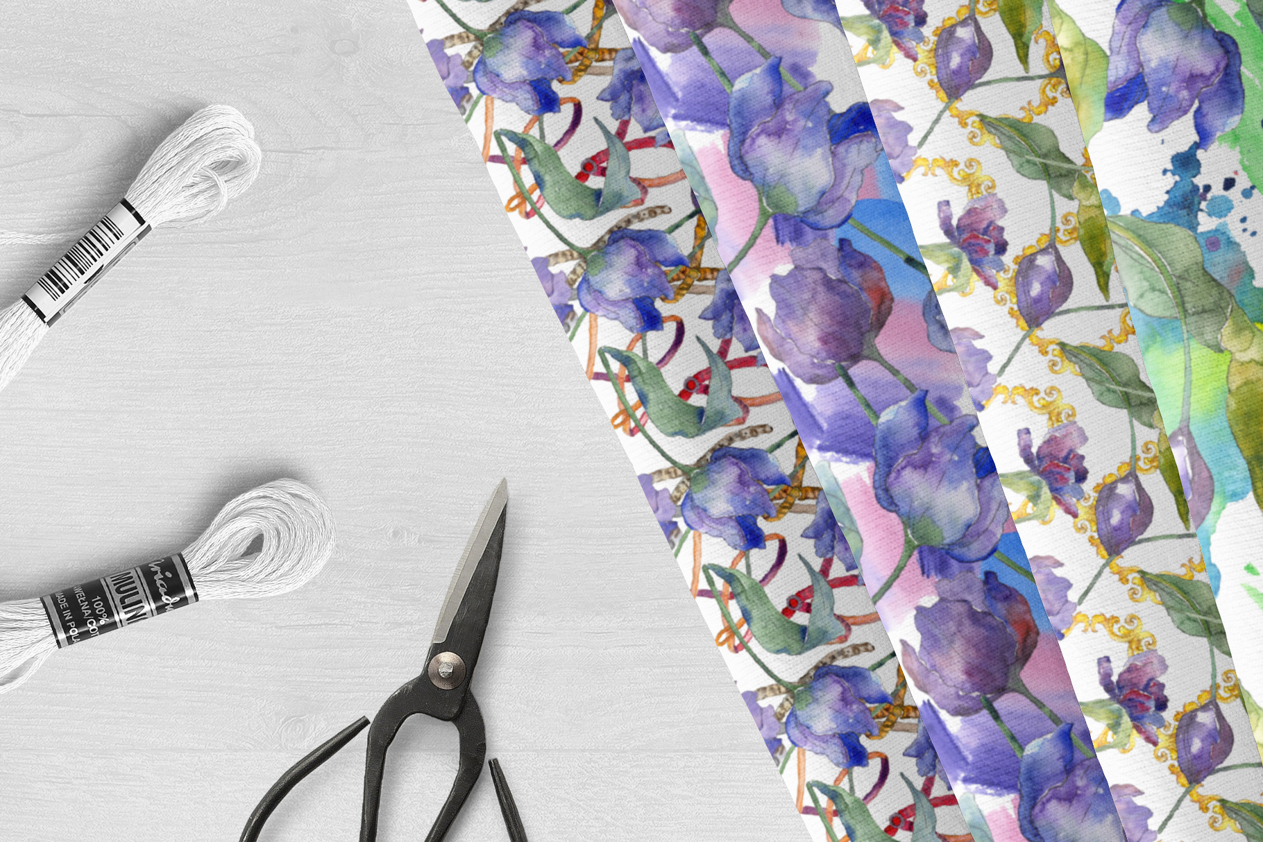 Bouquet of flowers tulips blue penny lane watercolor png example image 5
