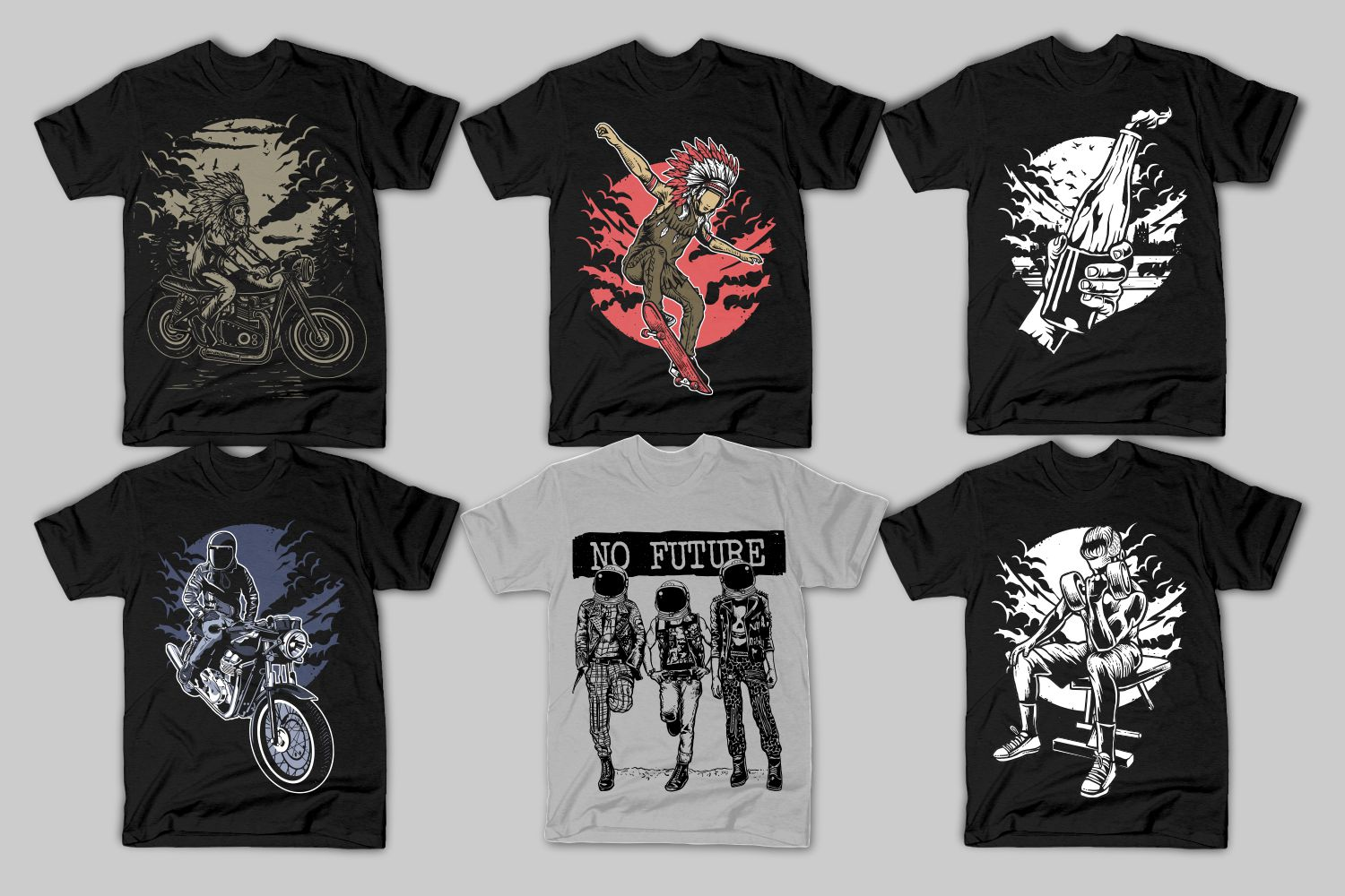 82 Tshirt Designs Bundle example image 4