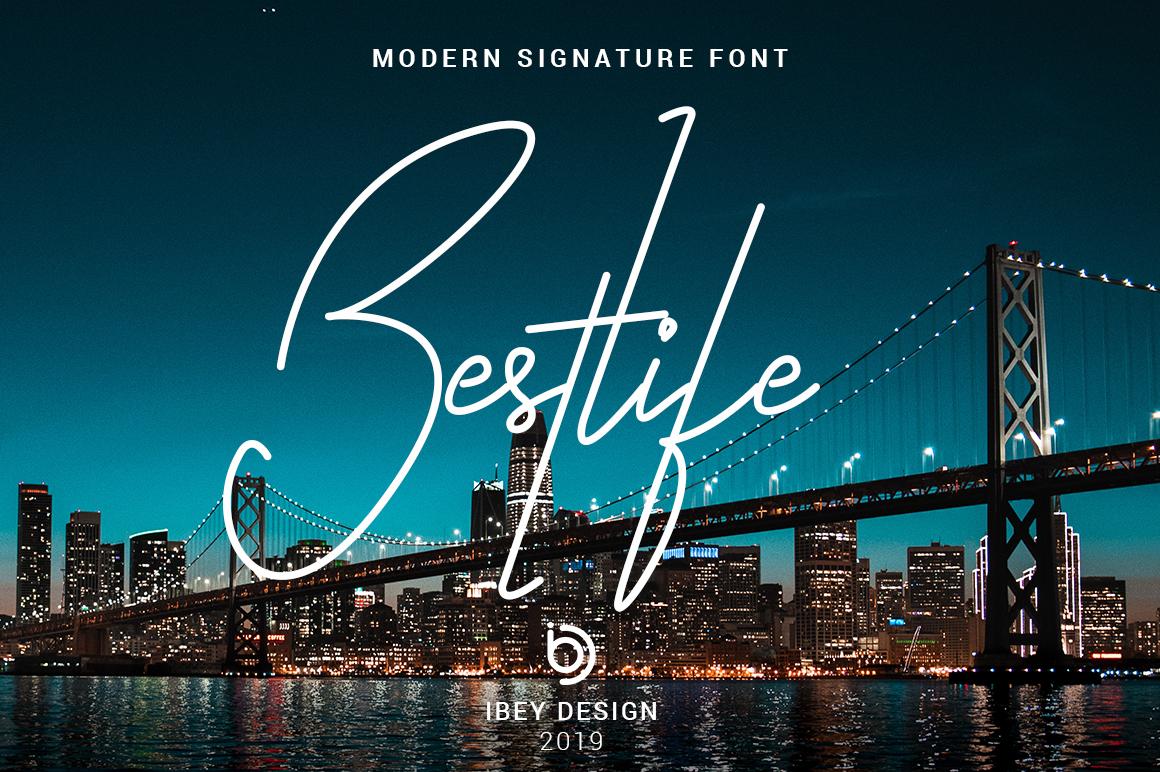 Bestlife - Monoline Font example image 1