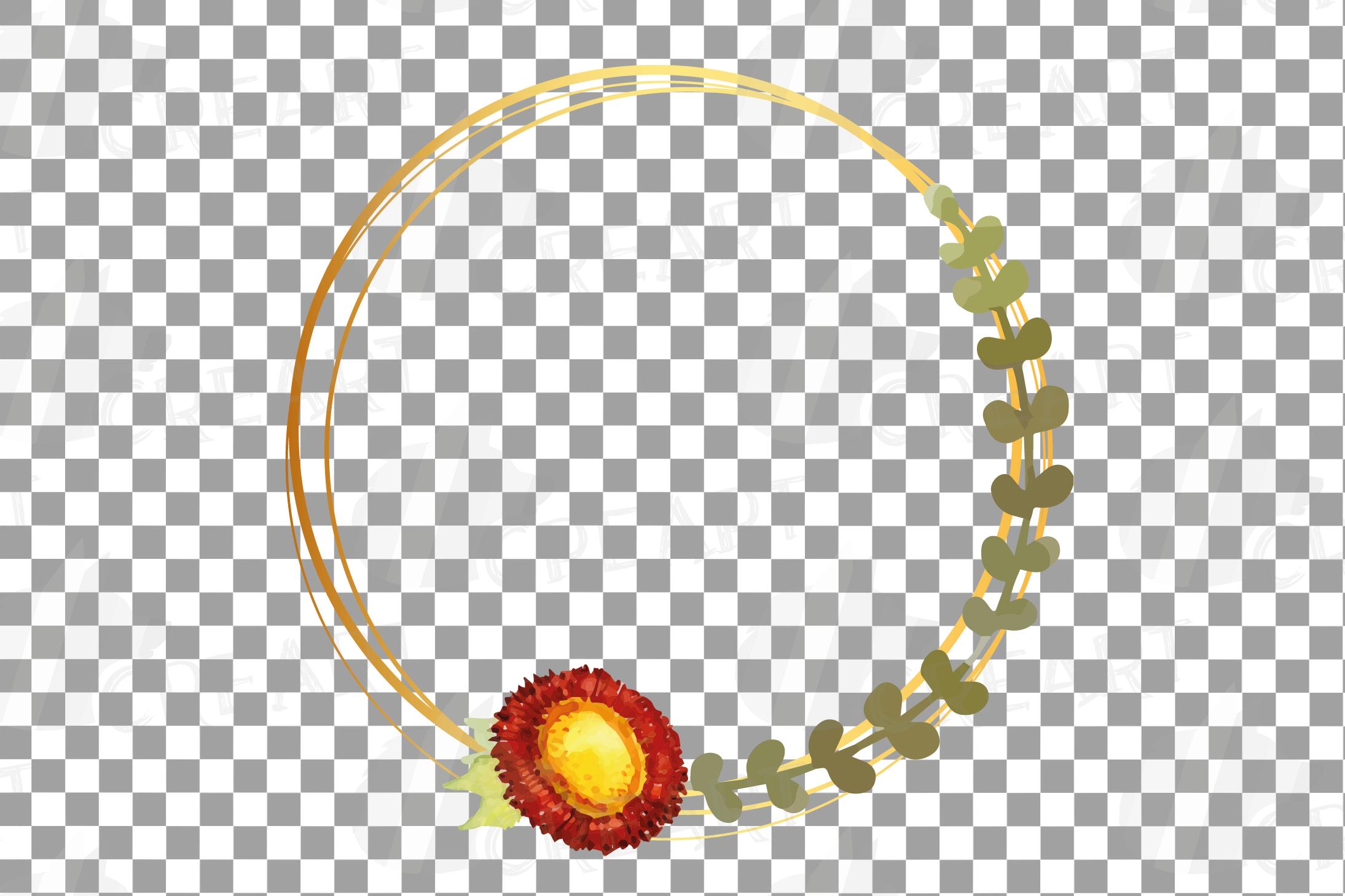 Watercolor elegant autumn geometric golden frame templates. example image 14