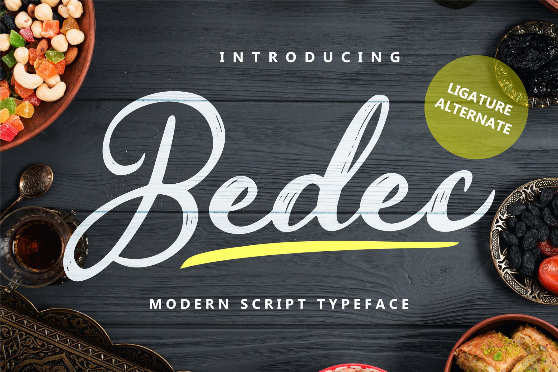 Bedec - Modern Script Typeface example image 1