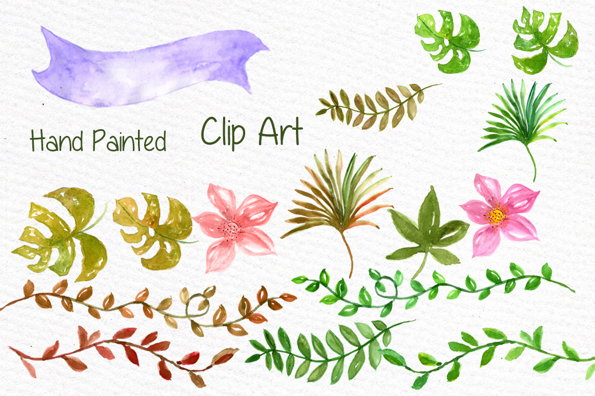 Watercolor Safari animals clipart example image 3