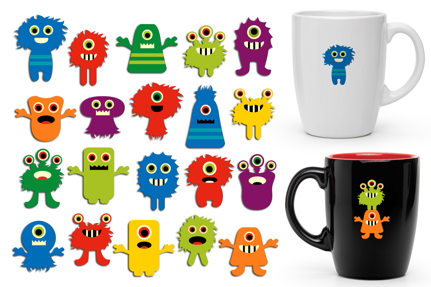 Back to school monsters clip art graphics bundle example image 2