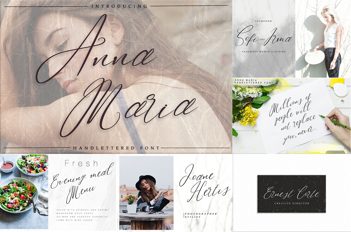 Handwritten Font Bundle 5 in 1 example image 5
