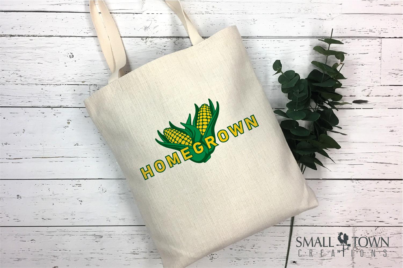 Homegrown, Corn Cob logo, Farm fresh, PRINT, CUT & DESIGN example image 4