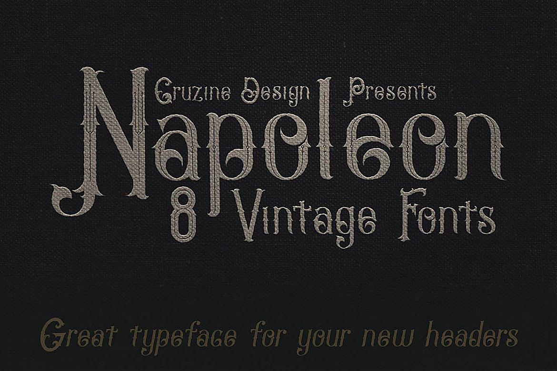 Napoleon Vintage Typeface example image 5