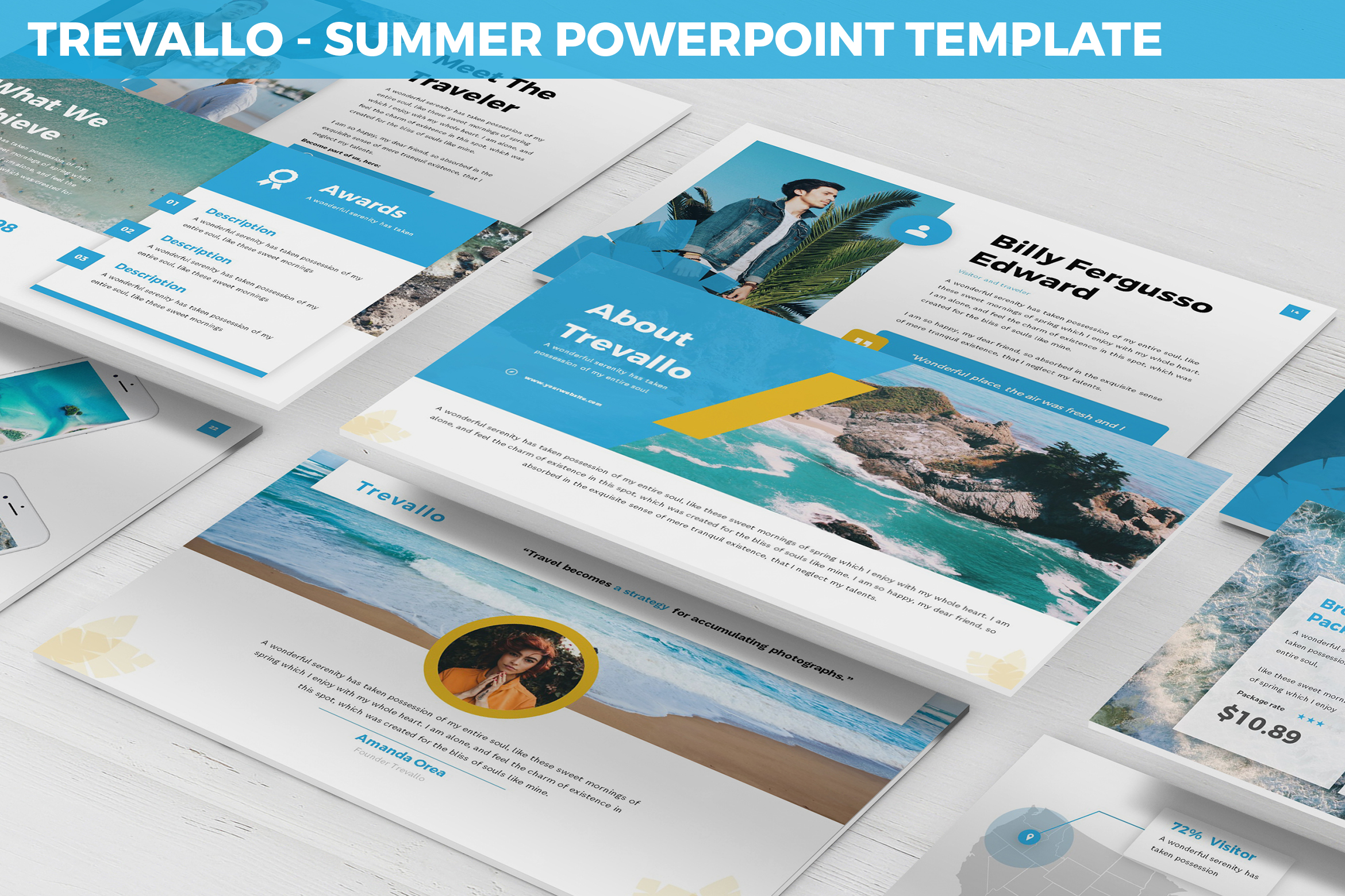 Trevallo - Summer Powerpoint Template example image 1