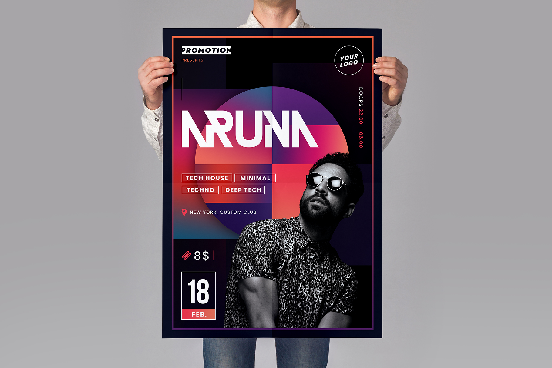 Minimal Party Flyer Template example image 2