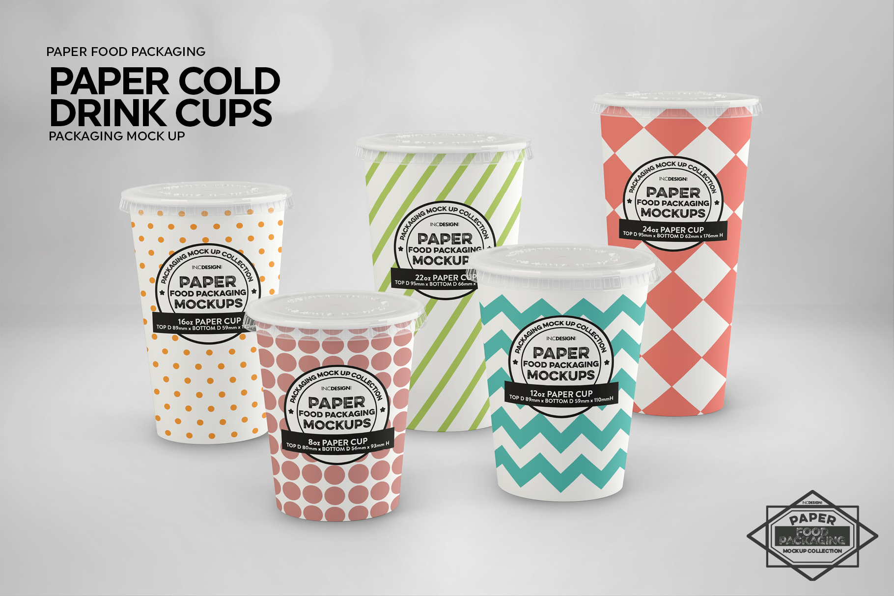 Paper Drink Cups Packaging Mockup example image 5