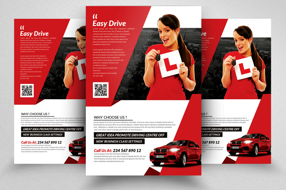 Driving School Flyers Templates Vol 7 example image 1