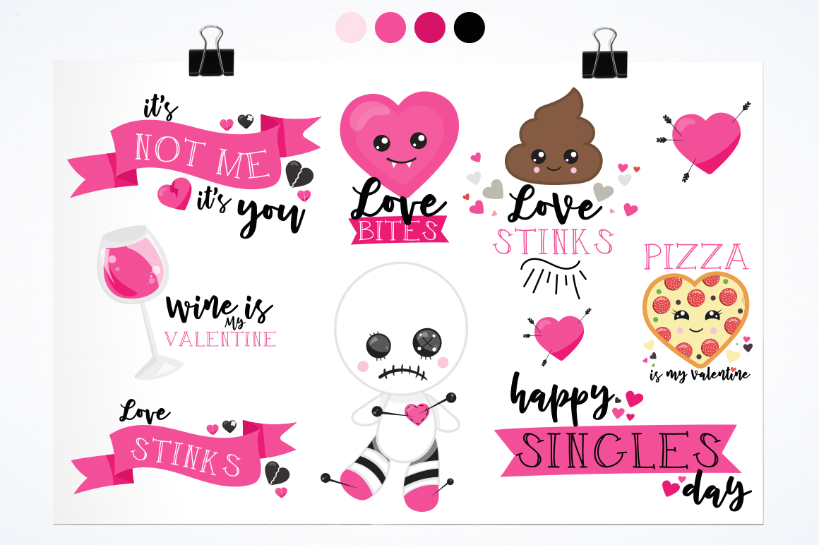Anti-Valentine graphic and illustrations example image 5