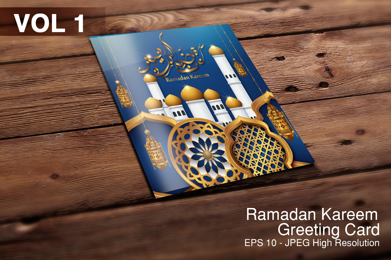 5 Ramadan Kareem, greeting background - VOL 1 example image 1