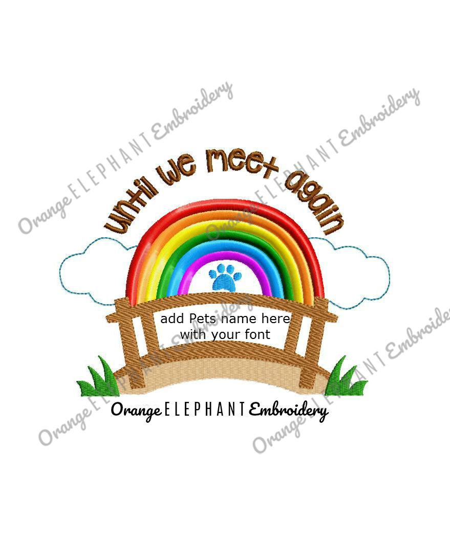 Rainbow Bridge Pet Machine Embroidery Design  example image 1