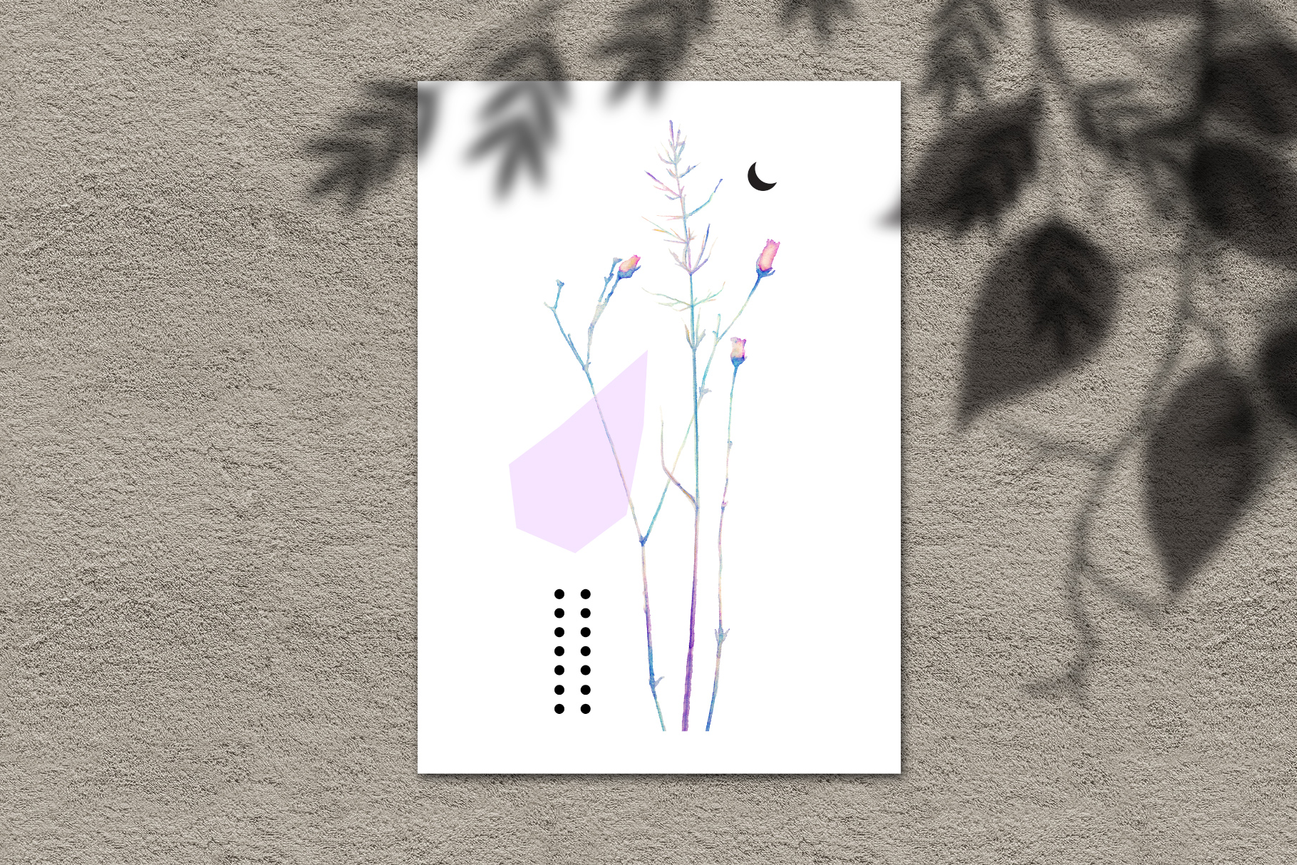 Watercolor floral design collection, herbal and ice example image 10