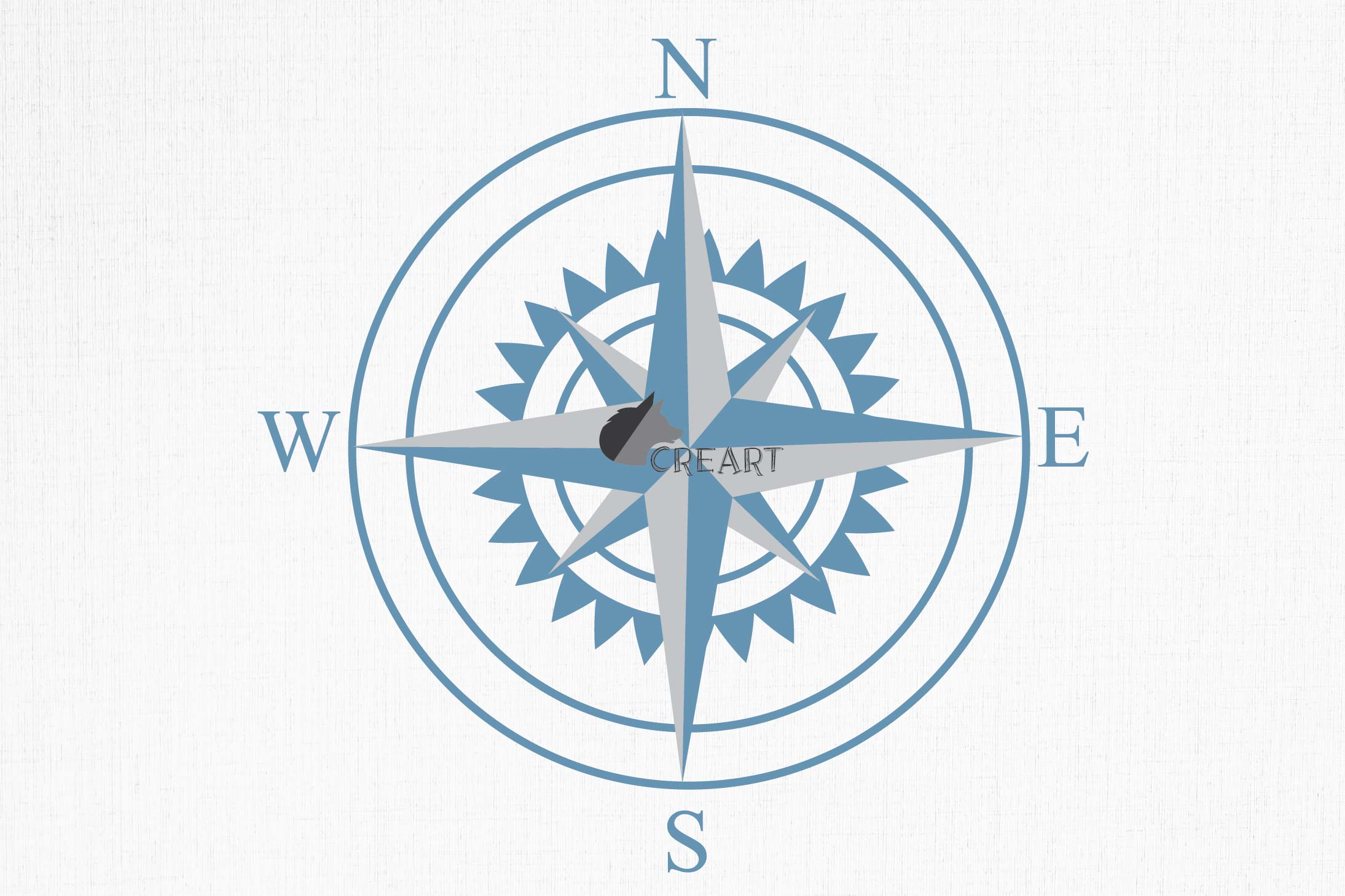 Compass rose navigation silhouette. Travellers decoration. example image 5