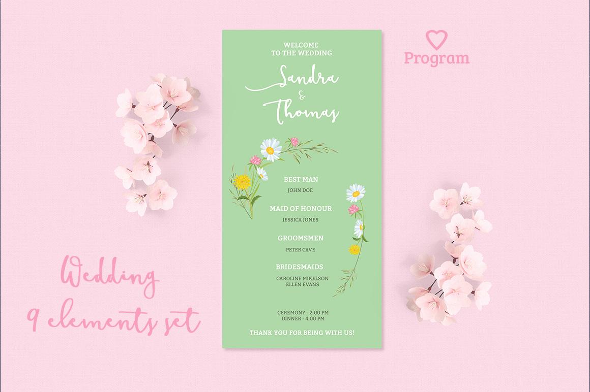 Summer Wedding Invitation Set example image 5