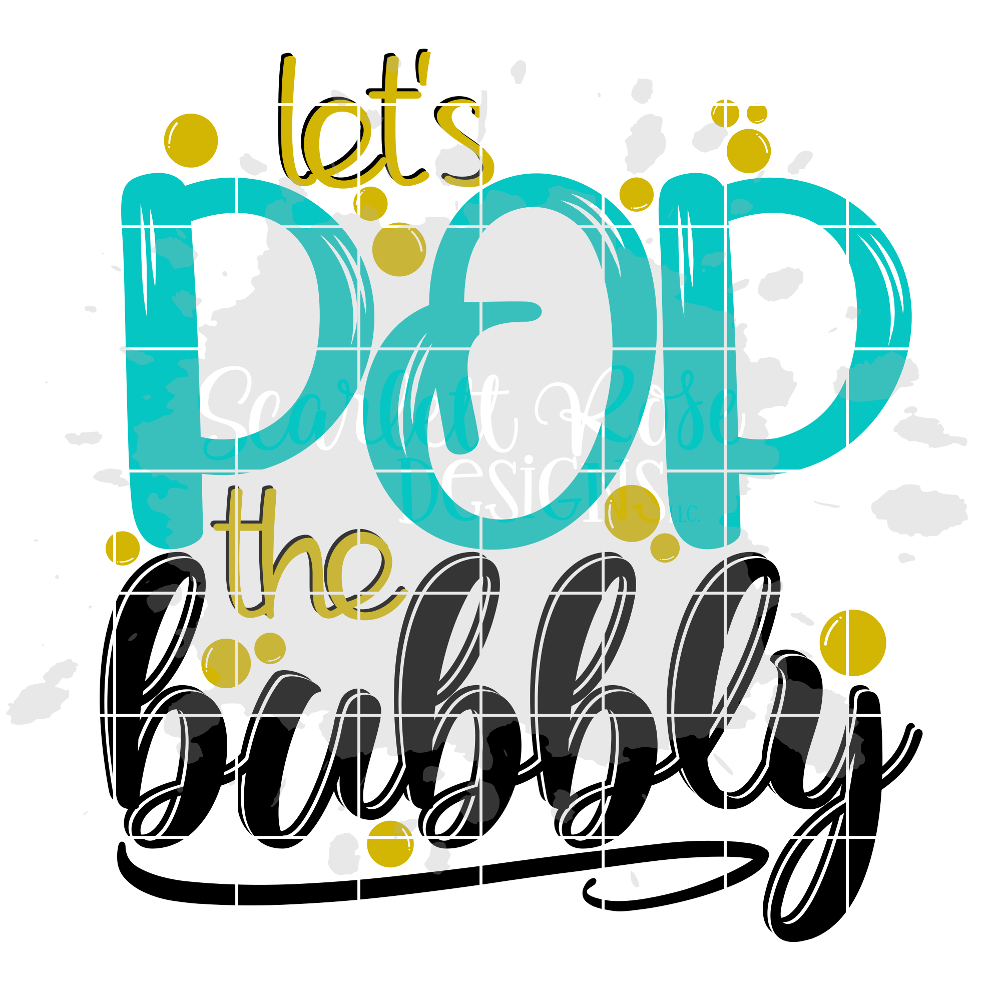 Let's Pop the Bubbly - New Year's SVG example image 2