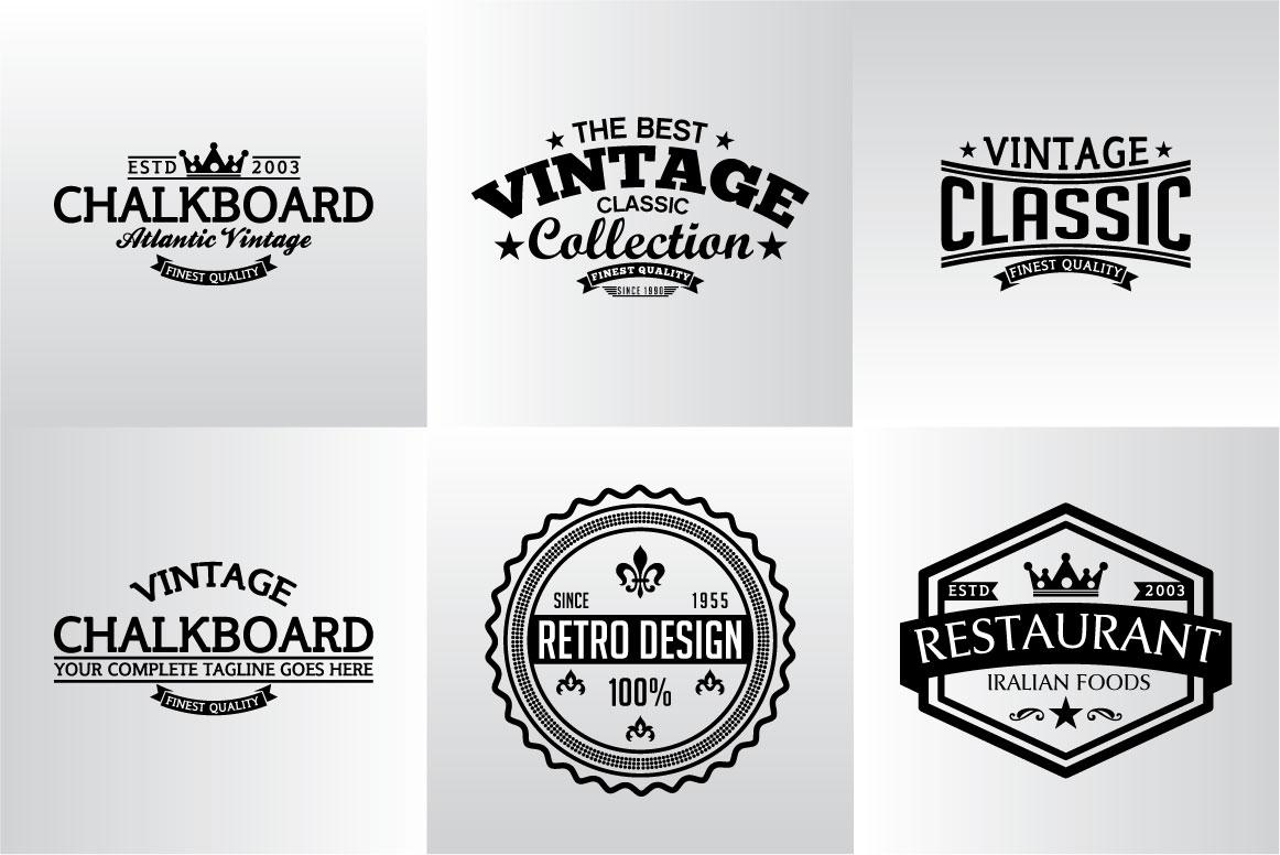 60 Vintage Bundle Logos Labels & Badges example image 13