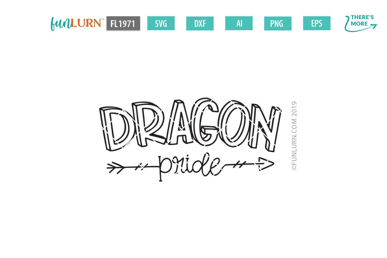 Dragon Pride Team SVG Cut File example image 2