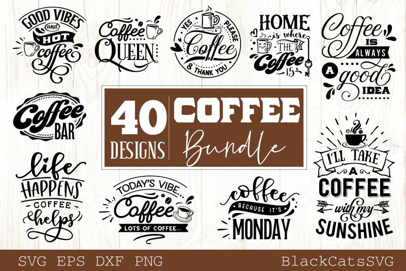 Coffee SVG bundle 40 designs Coffee SVG bundle example image 4
