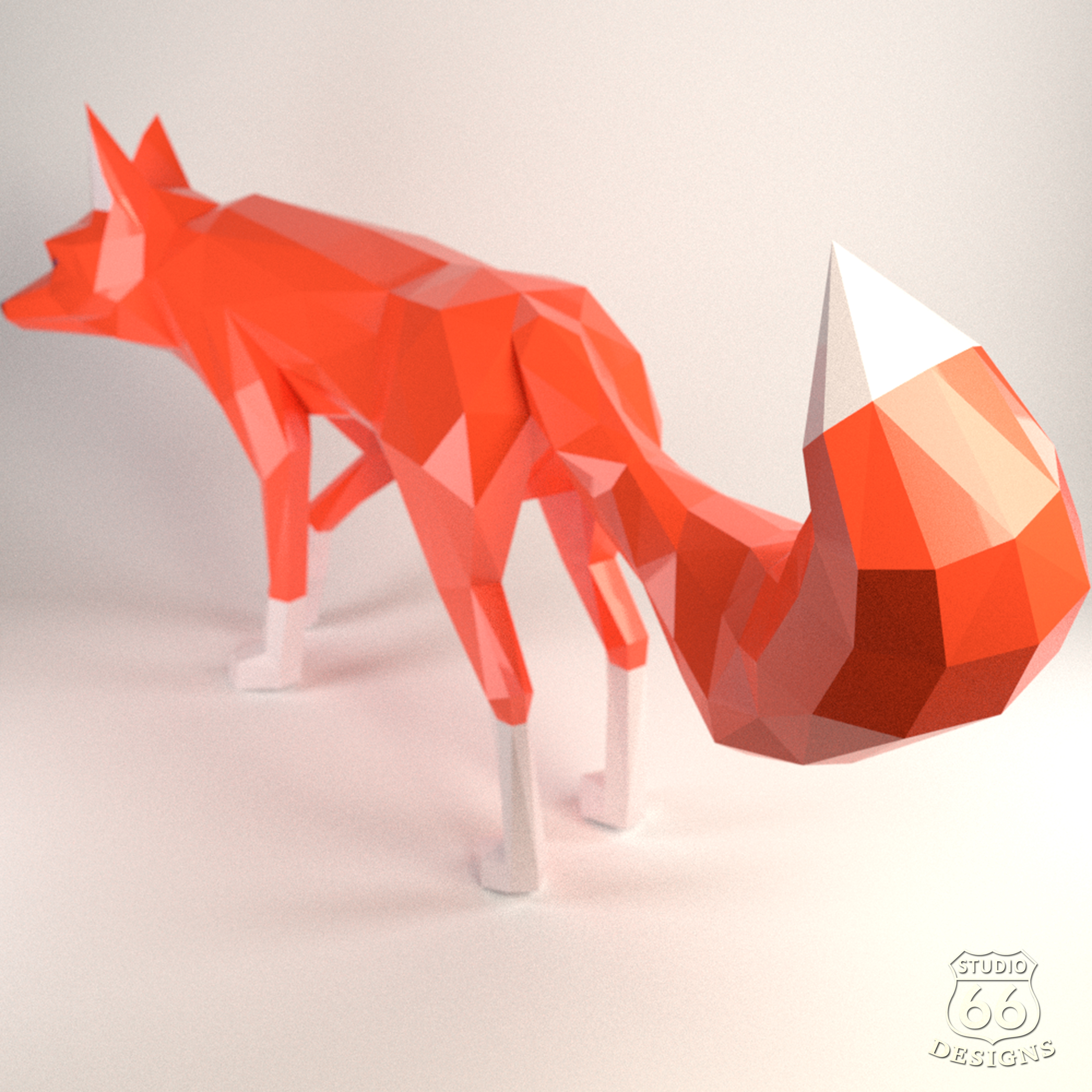 DIY Fox Papercraft, Red Fox, Fox Tail, Fox and Dogs, Fox Sculpture, Animal Trophy, Paper Animals, Home Decor, 3D origami, wild nature, foxy example image 3