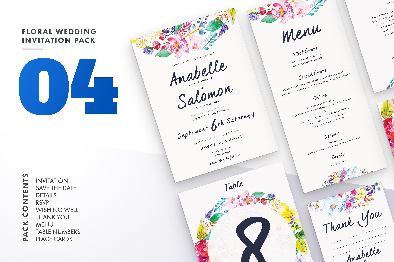 Floral Wedding Invitation Bundle example image 4