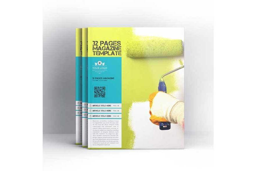 32 Pages Magazine Template example image 5