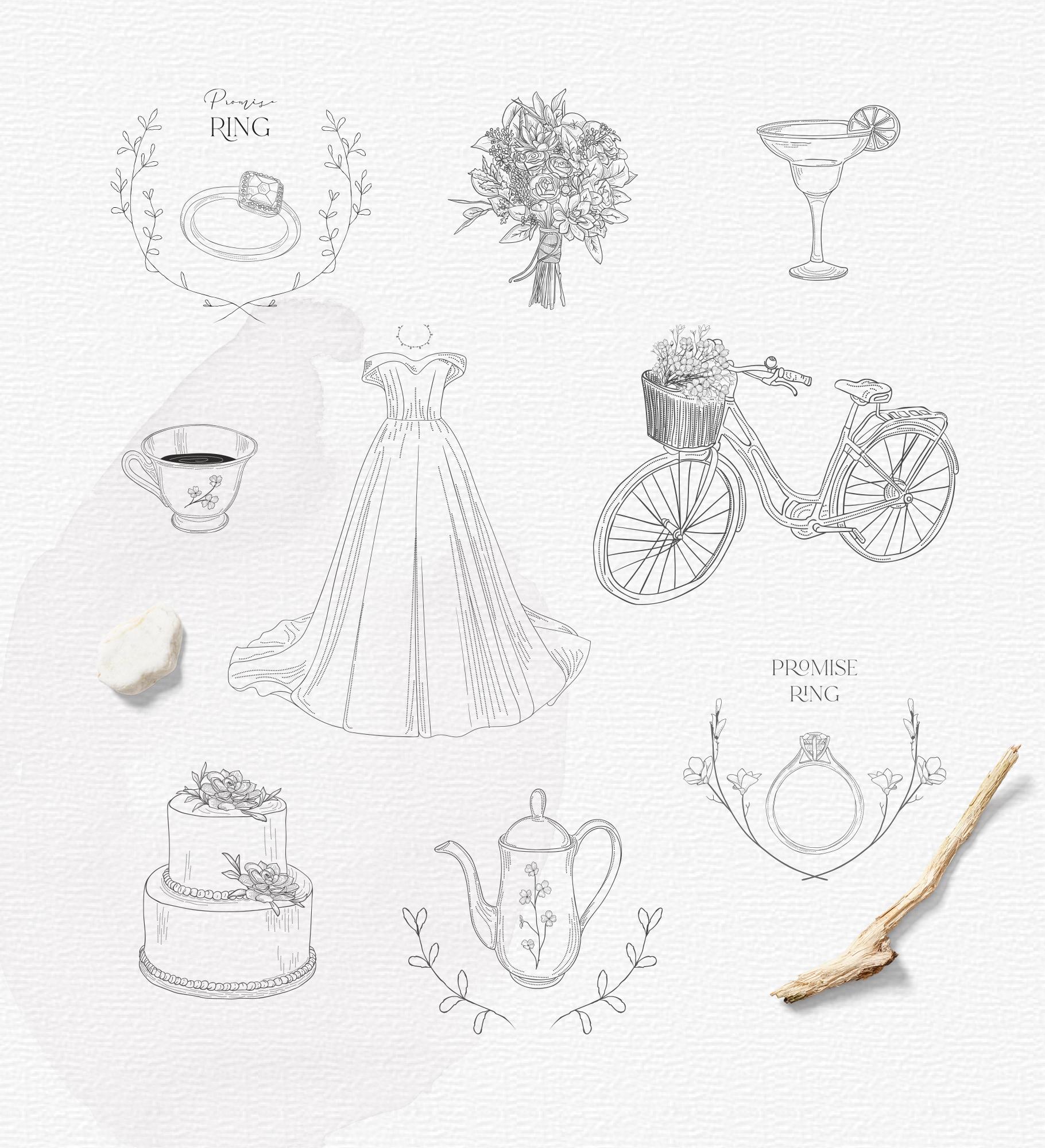 Hand drawn Decorative Illustrations example image 7