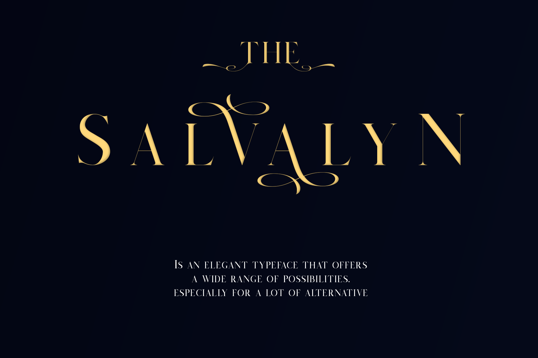 Salvalyn - Stylistic Serif Font example image 5