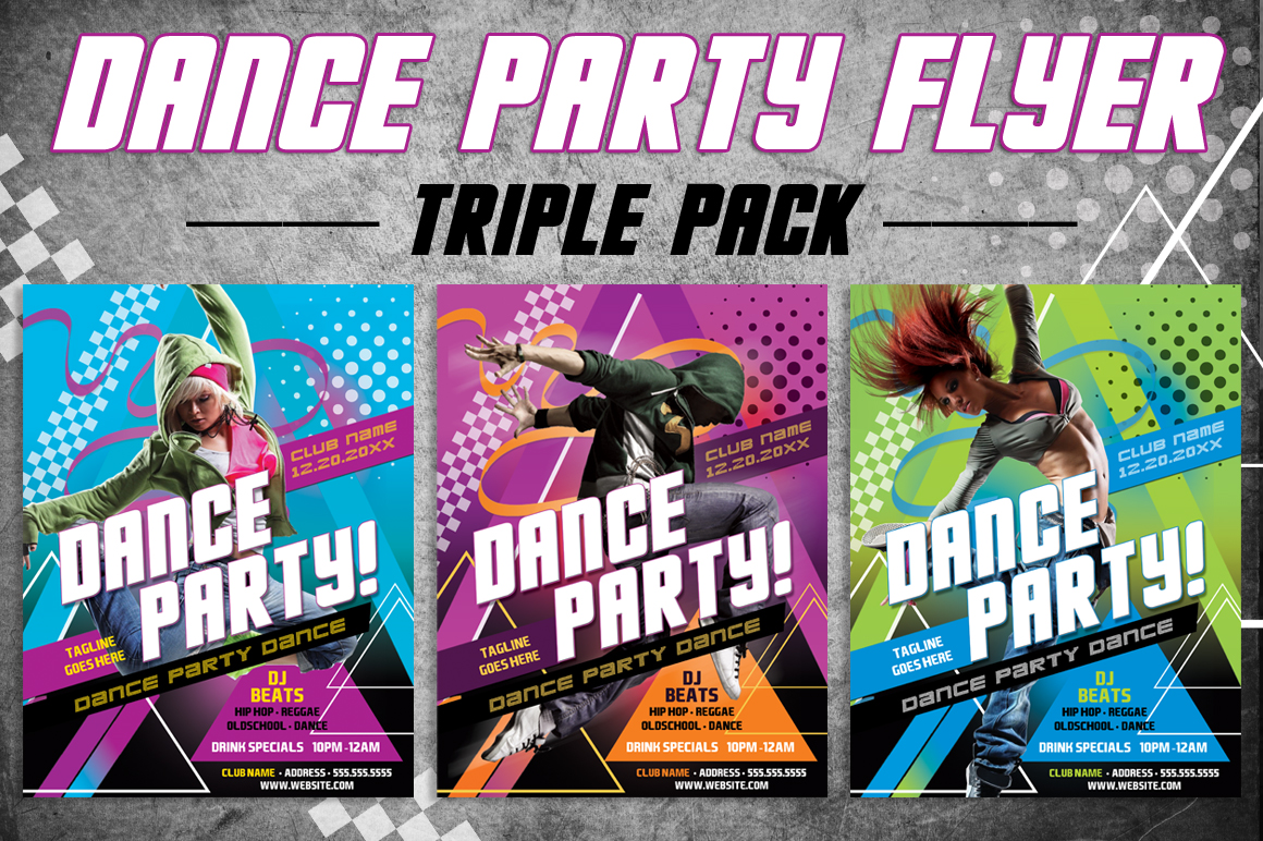 3 Dance Party Flyer example image 1