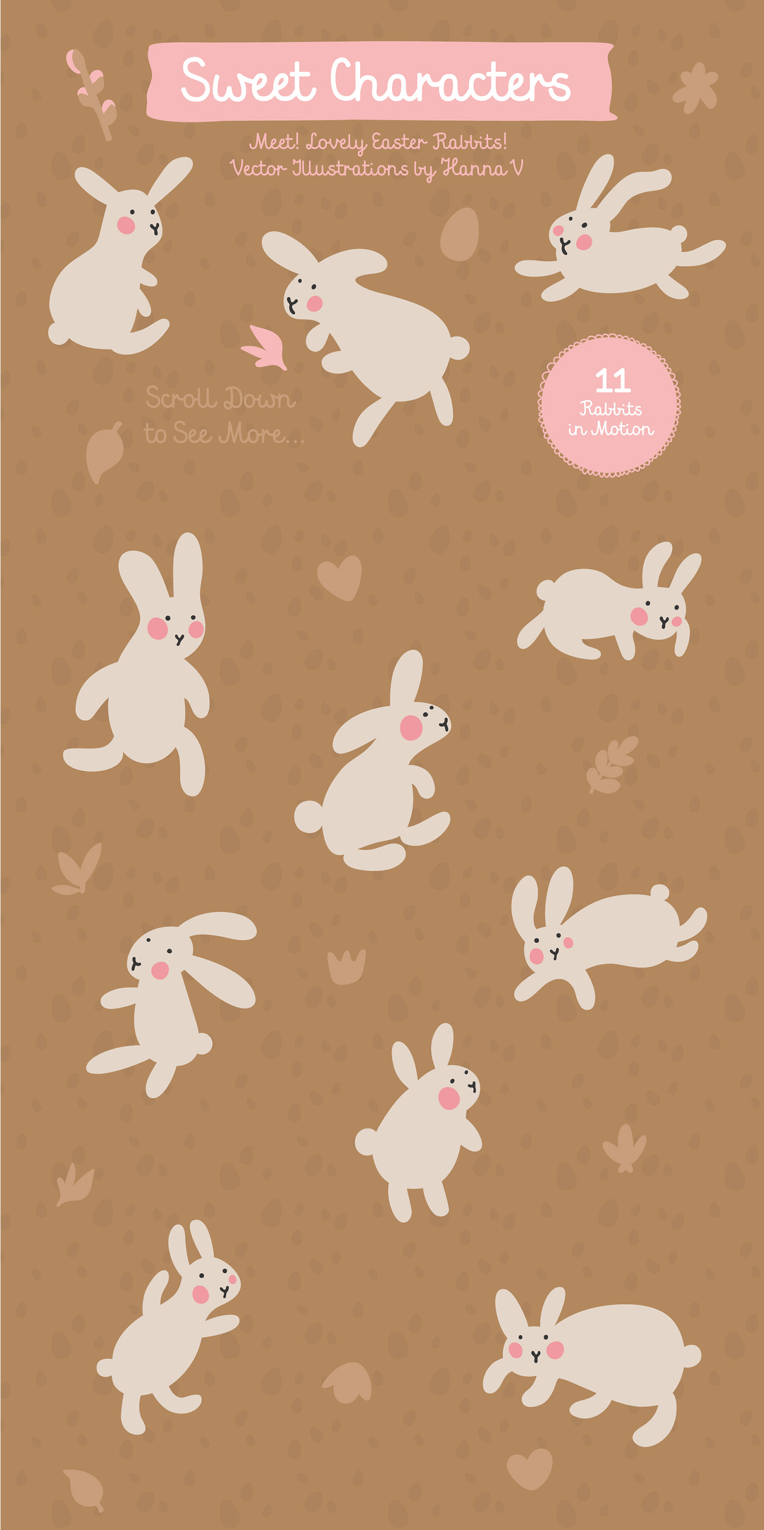 FIND EASTER! FUNNY VECTOR EASTER SET example image 3