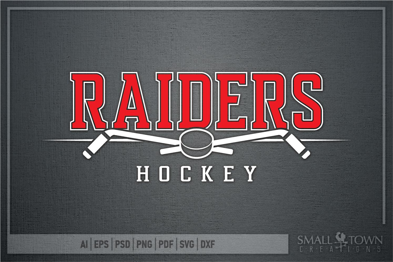 Raider, Hockey puck, Sports, Team logo, PRINT, CUT & DESIGN example image 4