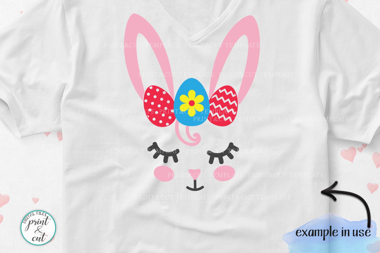 Bunny Rabbit faces Flowers Unicorn Horn Crown Bandana svg example image 3