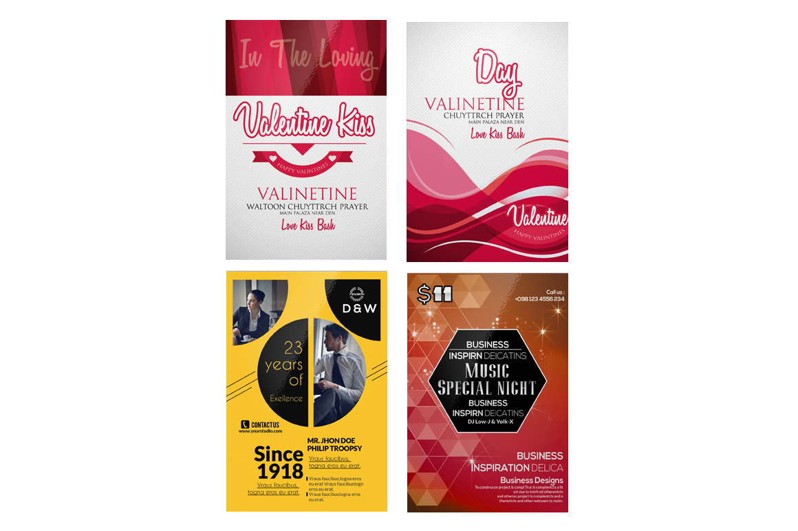 100 Party Flyers Bundle example image 7