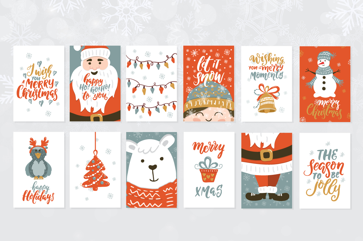 72 Christmas cards example image 4