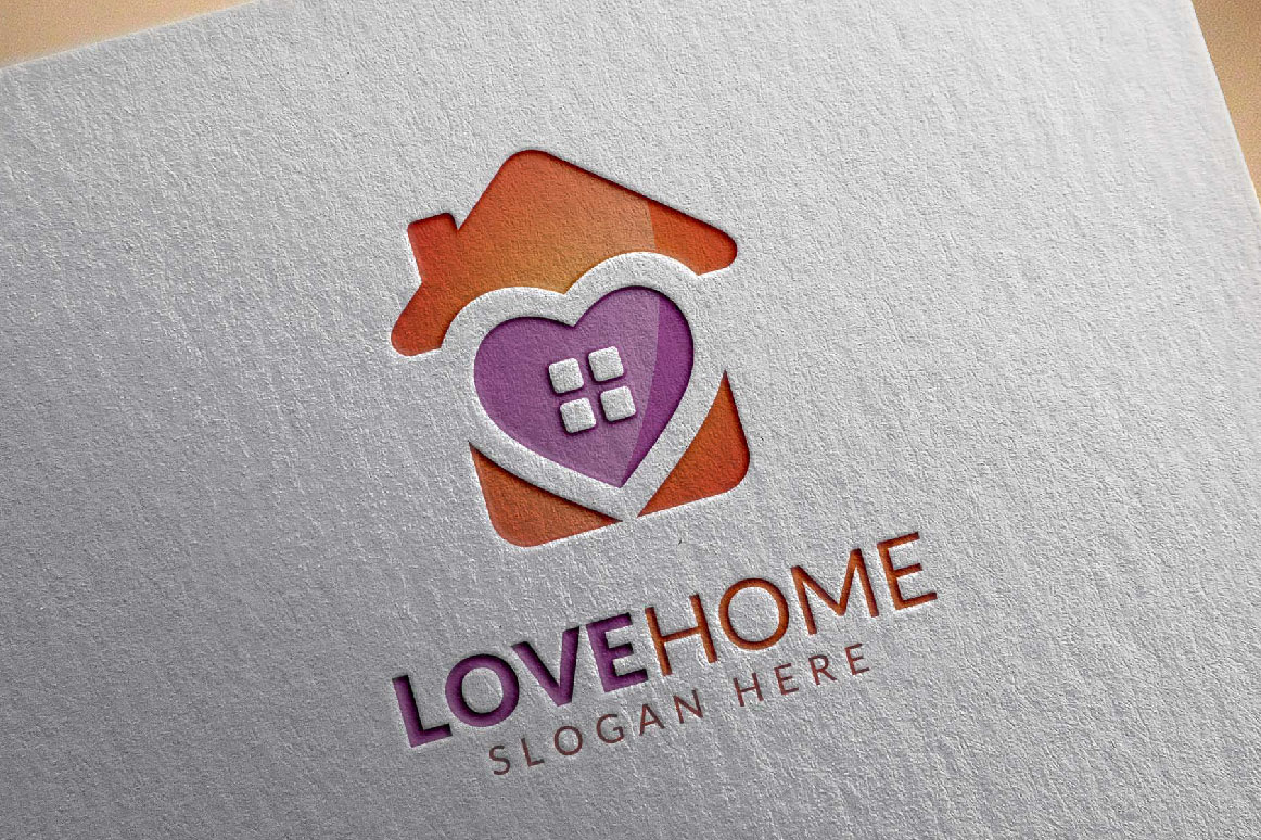 Love home logo, real estate logo example image 5