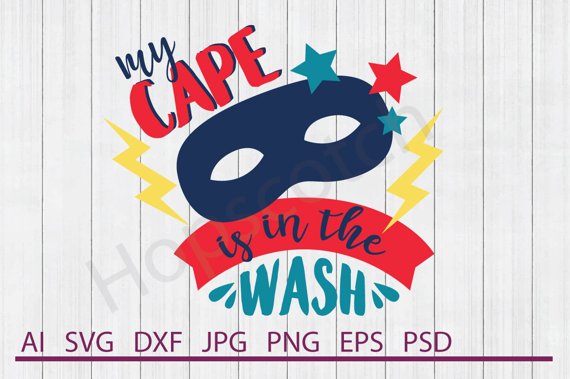 Mask SVG, Cape In Wash SVG, DXF File, Cuttable File example image 1