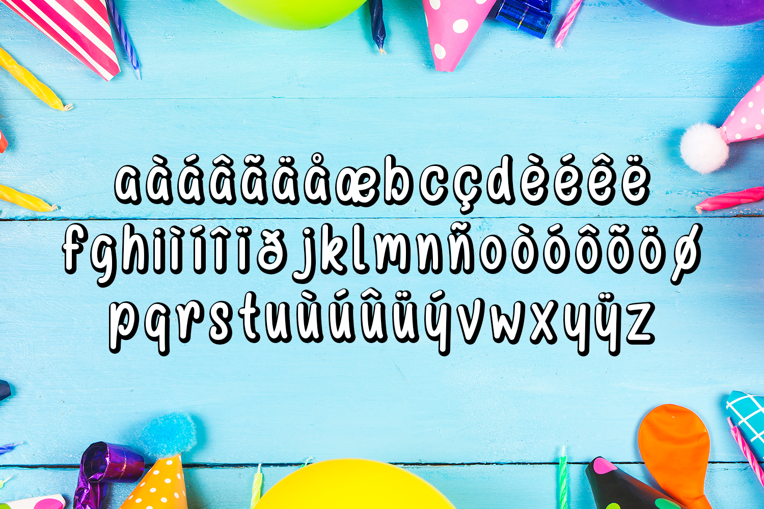 Happy Birthday Font example image 5
