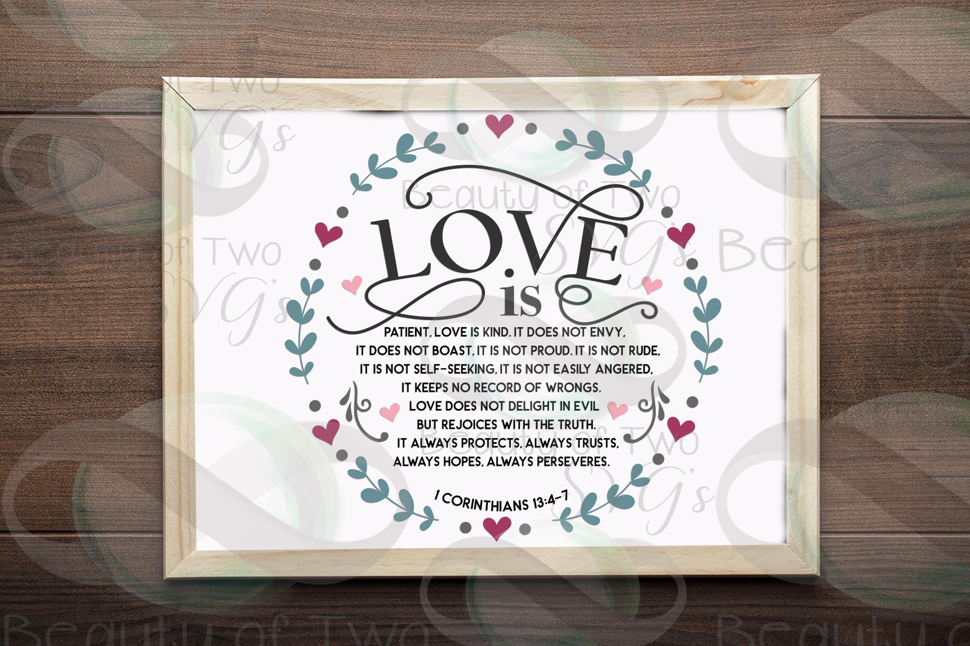 Farmhouse Christian Valentines svg, Corinthians 13 svg, love example image 2