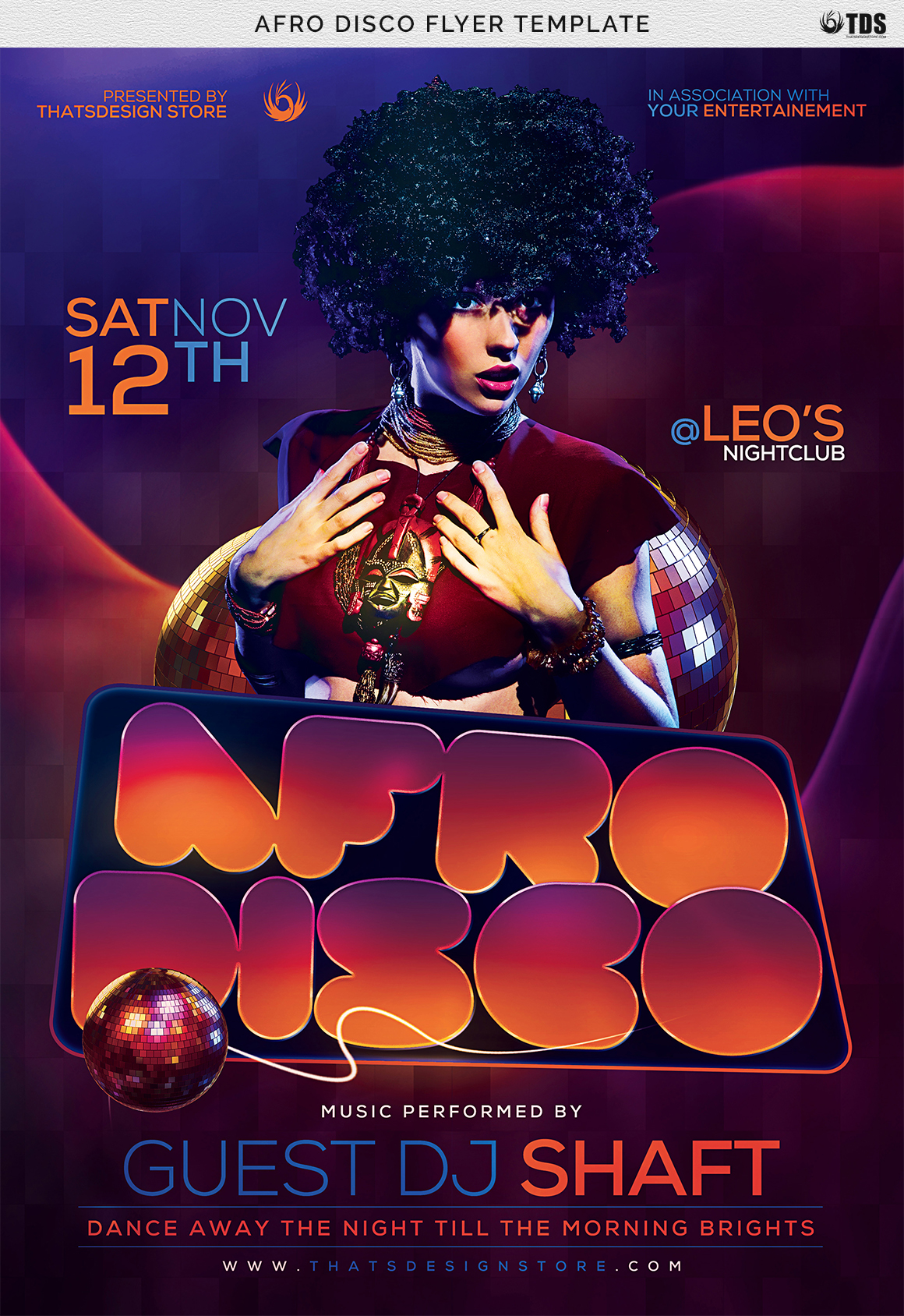 Afro Disco Flyer Template example image 7