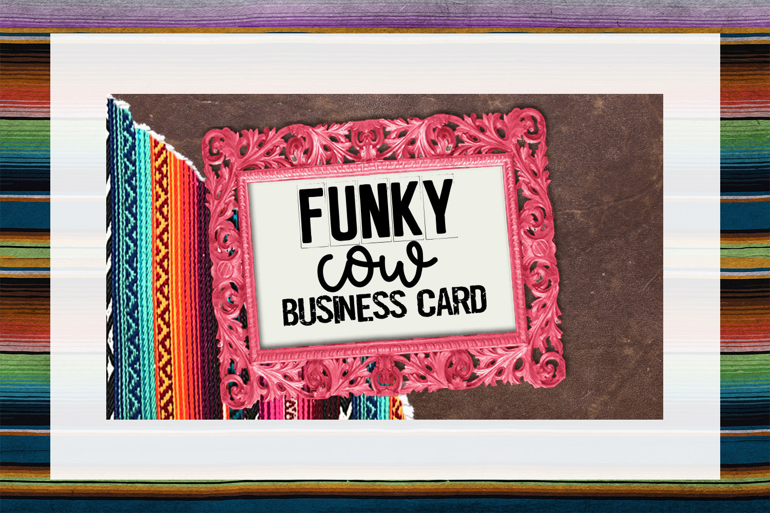 Funky Cow Business Card Digital Download example image 1