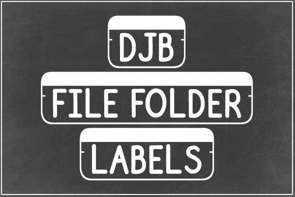 DJB File Folder Fonts example image 2